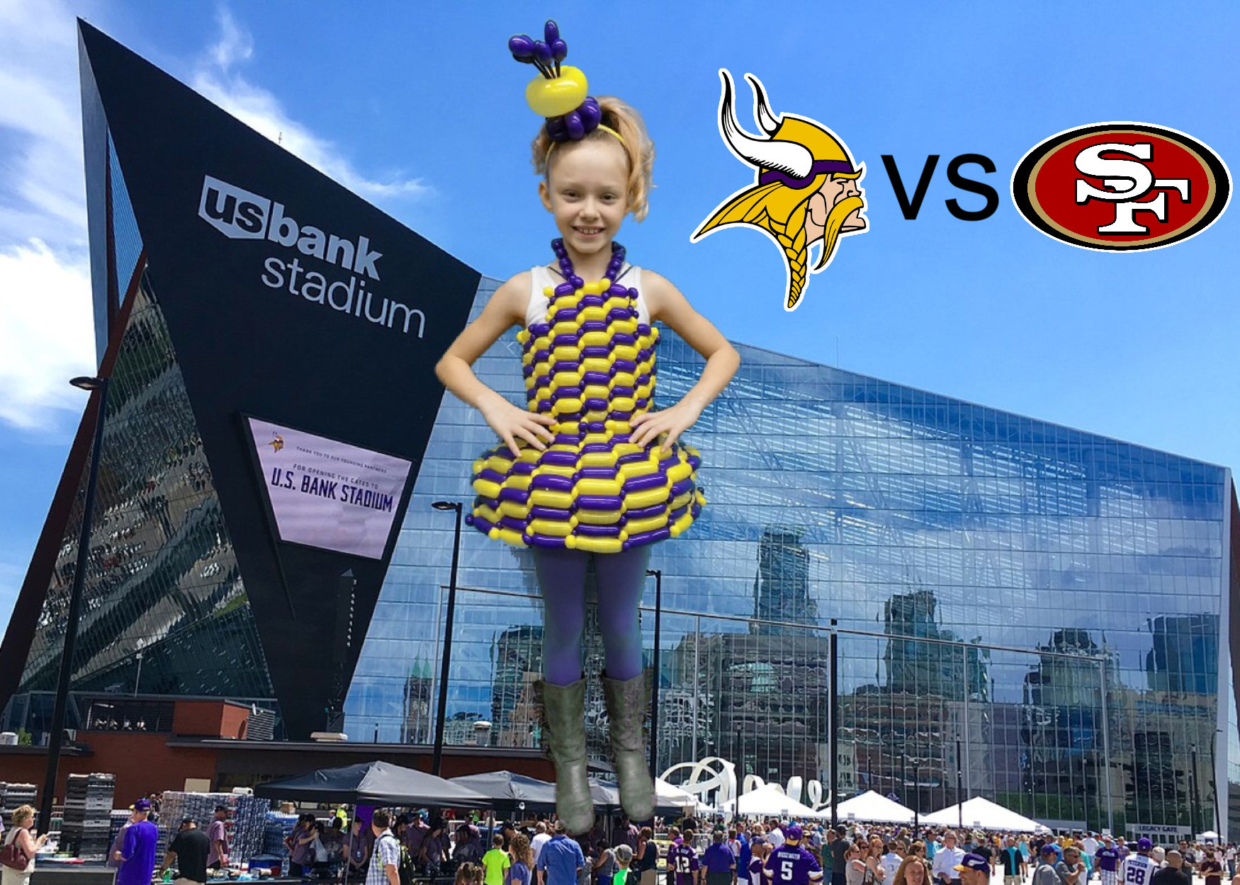Vikings dress/Facebook Fan Giveaway